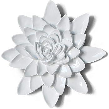 Amazon Com Stratton Home Decor Shd0176 Whimsical Flower Wall Decor 12 40 W X 1 57 D X 12 40 H Multi Metallic Home Kitchen