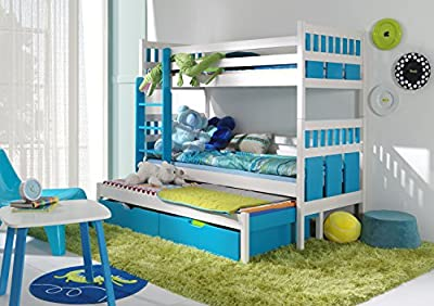 Ye Perfect Choice Max Triple Bunk bed made from Pine Wood * 27 colours available * 2 (UK Single standard)
