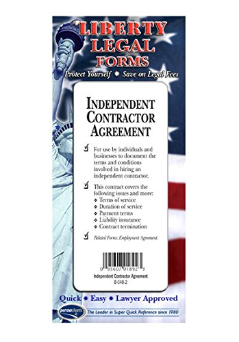 Independent Contractors Agreement - USA - Do-it-yourself Legal Forms By Permacharts