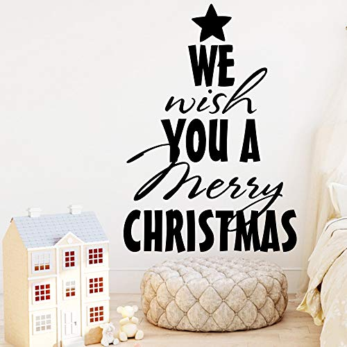 Geiqianjiumai Kerstdecoratie muursticker kunst wooncultuur woonkamer kinderkamer kerstdecoratie