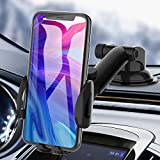 Phone Car Holder, bokilino Phone Car Mount - Cell Phone Holder for Car Dashboard Windshield, Sturdy Cup Holder Phone Mount Fit with All Mobile Phones