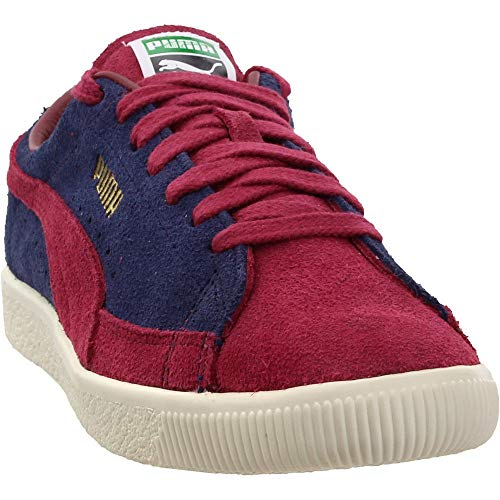 PUMA Mens Suede 90681 Vintage Casual Sneakers, Red, 10