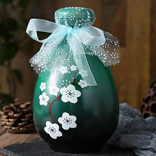 Piner 500ml antieke glazen wijnfles likeur sake pot retro sterke drank pot huishoudelijke kleine witte wijnfles Chinese Barware, groen