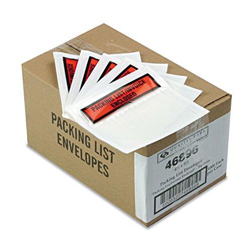 Qualité Park 46896Top Imprimé auto-adhésif d'emballage Liste enveloppes, 51/2x 41/2, 1000/carton
