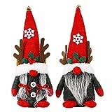 HINK Muñeca navideña sin Rostro, muñeca navideña con Cuernos para Fiesta de Adorno casero