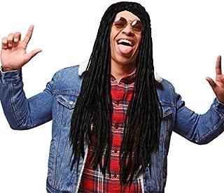 WILLBOND Dreadlocks Wig Black Dreadlocks Hair Men Women Dreadlocks Wig with 20 Inches Dreadlocks Hair for Costumes