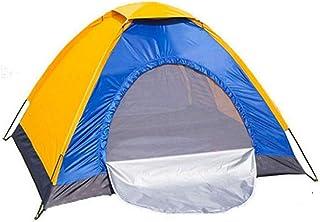 DorisAA camping tält enkel inställning bärbar utomhus camping enkelt tält vattentät UV strand solskydd skydd (färg: Orang...