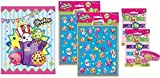 Shopkins Party Favor Kit Bundle for Eight Goody Bags , Stickers and Stretchy Bracelets