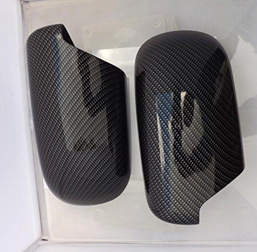 Preisvergleich Produktbild Satz Spiegelkappen Carbon-Optik passend für e39 e38 Wassertansferdruck neu