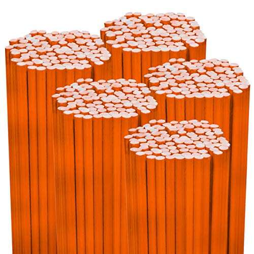 Great Price! 500PK 48 1/4 Diameter Hi Visibility Safety Orange Driveway Markers- Rods Stakes Guide...