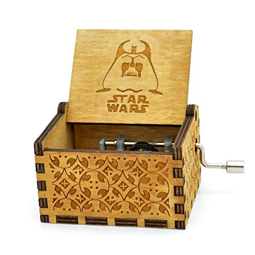 Meiion Star war. Music Box,ciondolo personalizzato inciso scatola decorativa in legno migliori regali di Natale (Star war)