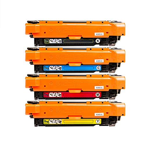 GHN Reemplazo de Cartucho de tóner Compatible con Swover para HP CE400 para HP Laserjet Enterprise 500 Color M511DN / M551N / M551XH (Paquete de 4),Ce400