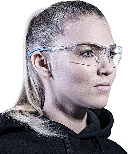 SOLID. gafas proteccion trabajo con ajuste perfecto y protección lateral integrada   gafas de seguridad con lentes transparentes, resistentes a los arañazos, antivaho y con protección UV