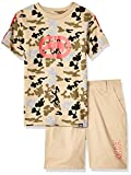 Ecko Boys' Little Sleeve Camo Print T-Shirt and Short Set, Brown Rice, 4