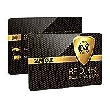 *RFID Targeta, 2 Peces-Targetes Anti *RFID/*NFC Protecció de Targetes de Crèdit Sense Contacte, *RFID *Blocker Permanentment Valgut, *Ultrasottile e *Facile Dóna Transportés, *Samfolk
