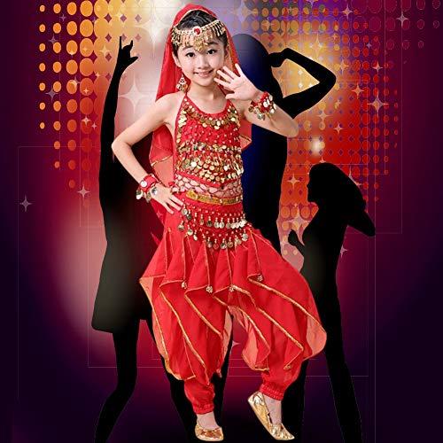 Disfraz De Danza para Nias, Diseo Ajustable Cmodo De Llevar Disfraz De Danza del Vientre Banda Elstica Disfraz De Danza del Vientre para Nios Suave para Bailar(Metro)