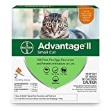 Advantage II 2-Dose Flea Treatment and Prevention for Small Cats, 5-9 Pounds