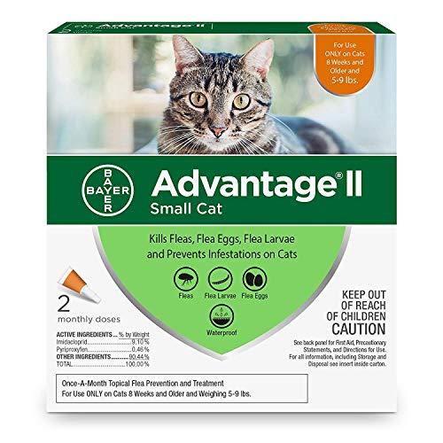 Advantage II 2-Dose Flea Treatment and Prevention for Small...