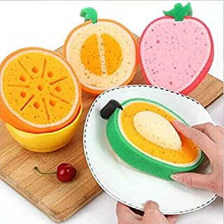 Large Kitchen or Bath Sponge Set   Cute Fruit Soap   for Cleaning Washing Dishes   Magic Eraser Supplies Sink