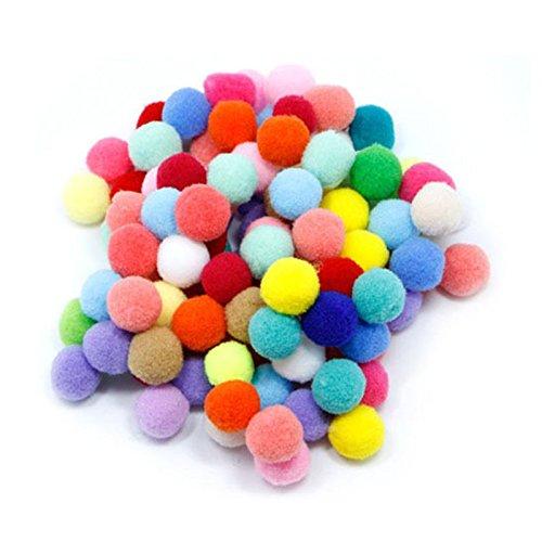 100pcs Pompones de Bola Pom Poms del Craft (1.5cm)