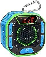 BassPal Draagbare Bluetooth douche-luidspreker, IPX7 waterdichte luidspreker met luid geluid, led-display, karabijnhaak,...