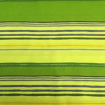 Tela por metros de sábana estampada - Algodón y poliéster - Ancho 270 cm - Confeccionar ropa de cama, decoración, manualidades | Rayas horizontales, verde: Amazon.es ...
