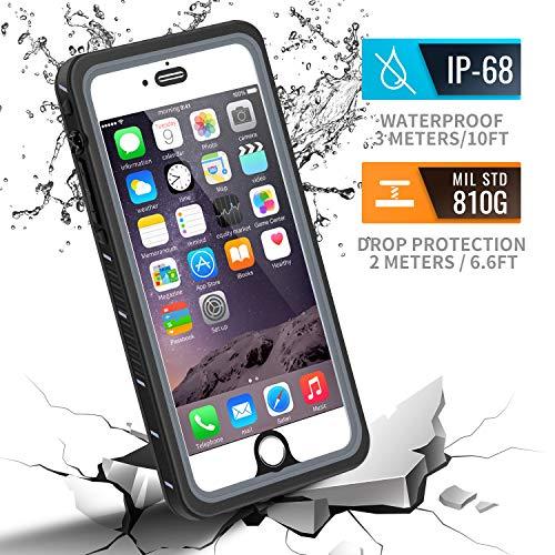 meritcase iPhone 6 Plus/6s Plus Case, IP68 Certified Waterproof Shockproof Dustproof Snowproof Full Body Protective Underwater Cover with Built in Screen Protector for iPhone 6 Plus/6S Plus
