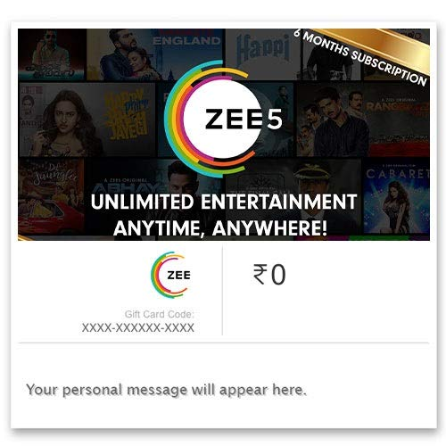 ZEE5 Half Year Subscription Digital Voucher