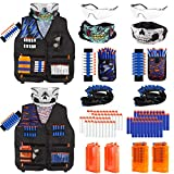 Taiker Compatible with Nerf Vest Kit, 2 Pack Tactical Vest for Nerf Gun, N-Strike Elite Jacket for Boys, Girls