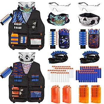 Taiker Compatible with Nerf Vest Kit 2 Pack Tactical Vest for Nerf Gun N-Strike Elite Jacket for Boys Girls