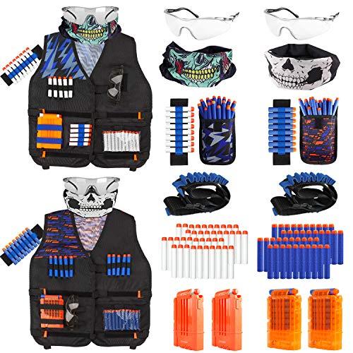 Taiker Compatible with Nerf Vest Kit, 2 Pack Tactical Vest for Nerf Gun, N-Strike Elite Jacket for Boys, Girls