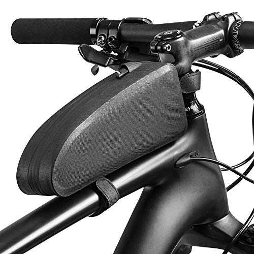 ZLZL Bike Frame Bag Waterdichte Bike Top Tube Tas Driehoek Grote Capaciteit Fietstas Professionele Fietsen Accessoires Fietsen Waterdichte Zadeltas, Zwart - Kleine/Groot Large
