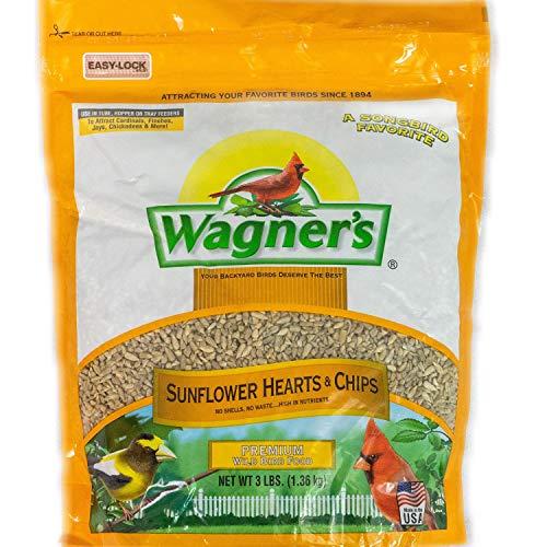 Wagner's 57051 Sunflower Hearts & Chips Wild Bird Food, 3-Pound Bag