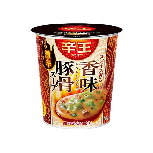 ポッカサッポロ 辛王 スパイス香る香味豚骨スープ カップ 21.8g×24個 からおう とんこつ