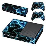 UUShop Protective Vinyl Skin Decal Cover for Microsoft Xbox One Console wrap Sticker Skins with Two Free Wireless Controller Decals Lightnings(NOT for One S or X)