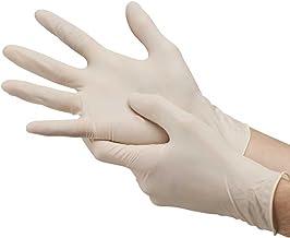 TWENOZ Latex Medical Examination Disposable Hand Gloves, White, Medium, 100 Piece