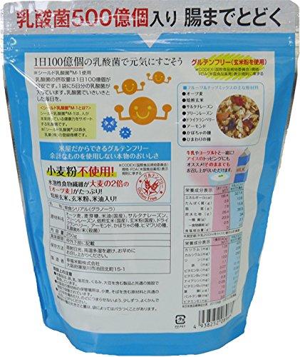 幸福米穀乳酸菌グラノーラフルーツ&ナッツ250g×3袋