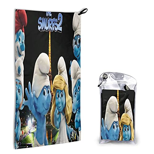 Large Puzzle Die Schlümpfe Handtücher aus 100% Baumwolle 40x80cm dick weich und saugfähig Waschlappen Handtuch Badetuch Badetuch