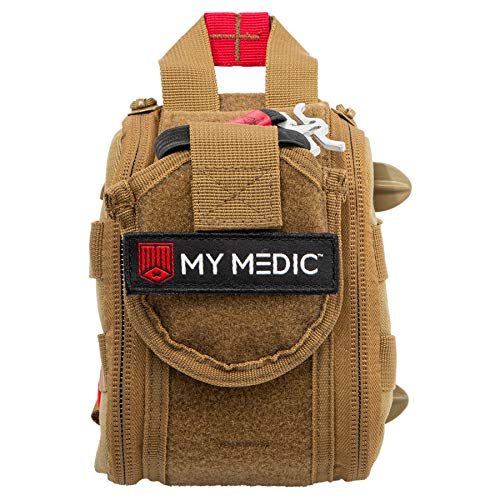 My Medic The RangeMedic First Aid Kit - Bandages, Burn Aids, Airway, Tourniquet, Chest Seal, QuikClot - for Hunting, Shooting, Emergencies, Accidents - Advanced, Coyote