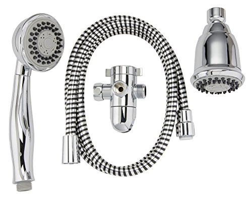 Plumb Pak K750CP Stylewise 3 Function Shower Head Kit, Polished Chrome