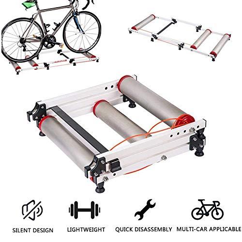YLEI Home Trainer Simulateur de vélo Vélo D'intérieur Trainer Plate Vélo Station de vélo de Route VTT Station d'exercice vélo Formateur à Rouleaux Pliable intérieur pour vélo d'intérieur vélo