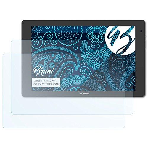 Bruni Schutzfolie kompatibel mit Archos 101b Oxygen Folie, glasklare Bildschirmschutzfolie (2X)