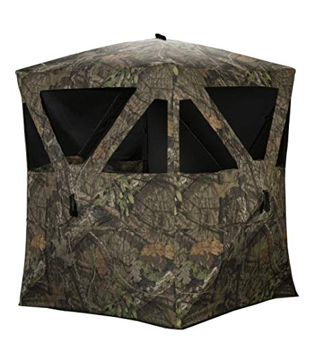 Rhino Blinds R100-MOC 2 Person Hunting Ground Blind, Mossy Oak Breakup Country