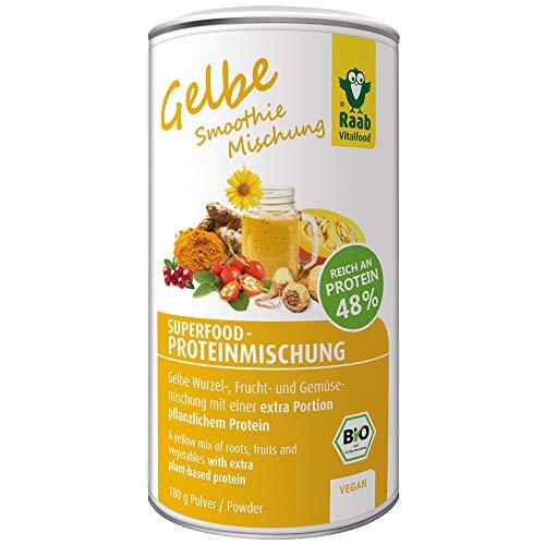 Raab Vitalfood Bio Superfood-Mischung gelb für Smoothies, Wurzel-, Frucht-, Gemüsemischung, 180 g