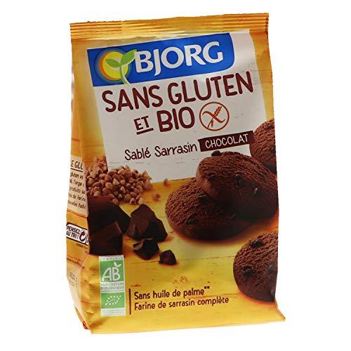 Bjorg Sans gluten Bio Sablé Sarrasin Chocolat - Sans huile de palme - 250 g