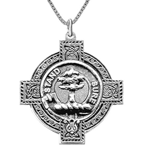 Anderson Scottish Clan Crest Celtic Cross Pendant