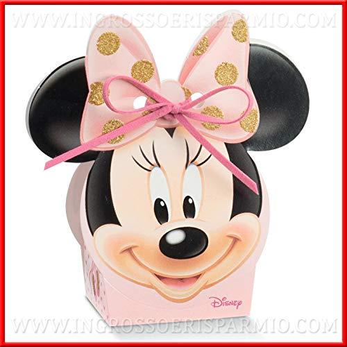 Ingrosso e Risparmio Schön und sparen Sie 10 Schachteln Disney Rosa mit Minnie Schablonen und goldenen Glittern, preiswerte Nascita, Taufe, Compleanno feminin