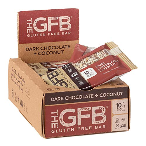 The GFB Gluten Free Protein Bars, Dark Chocolate Coconut, 2.05 Ounce (Pack of 12), Vegan, Dairy Free, Non GMO, Soy Free