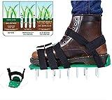 East-P - Zapatos de aireador de césped de tamaño universal con 5 correas de metal ajustables, para jardín y césped