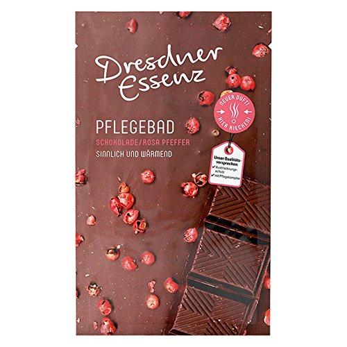 12er Pack Dresdner Essenz Pflegebad Wellnessbad Schokolade/Rosa Pfeffer 12 x 60 g, Badezusatz Intensivpflegekomplex sinnlich & wärmend